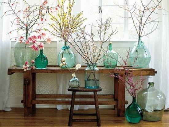 idee déco de printemps branches fleuries