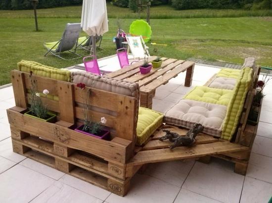 meubles en palettes le bois recyclable