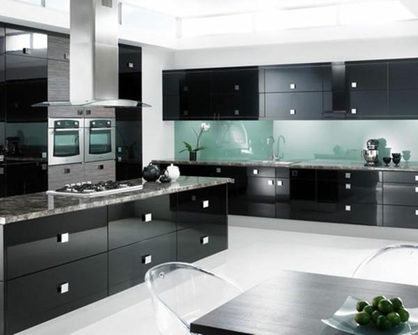 meubles de rangement cuisine en noir