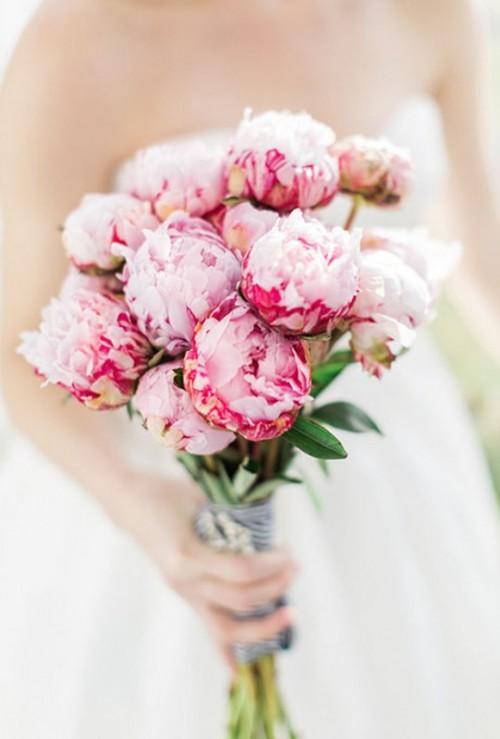 25 Bouquets De Fleurs En Rose Pour Un Mariage Romantique