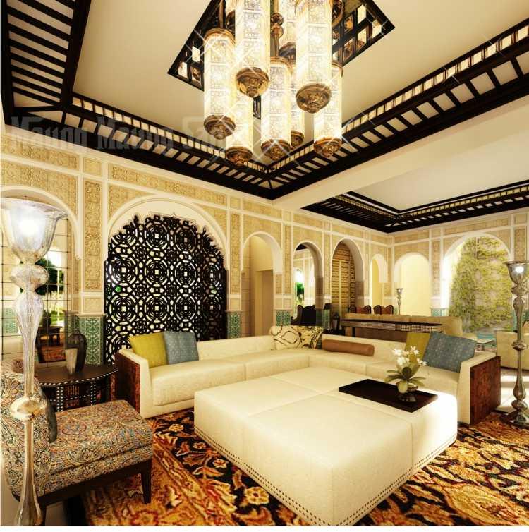modele de salon marocain moderne