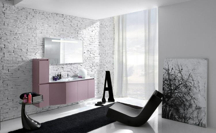 salle de bain noir et blanc une piece