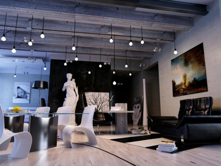 son salon dans un style moderne