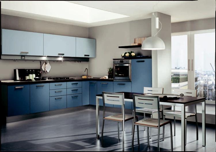 Cuisine Bleue Dcoration Moderne Avec Des Touches En Bleu