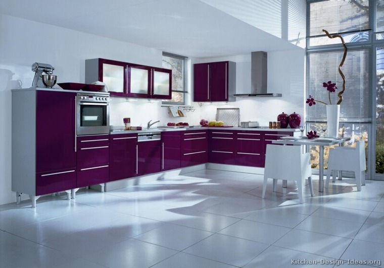 cuisine couleur aubergine