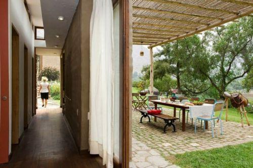 matériaux verts maison écolo construction idée terrasse rideaux aménagement