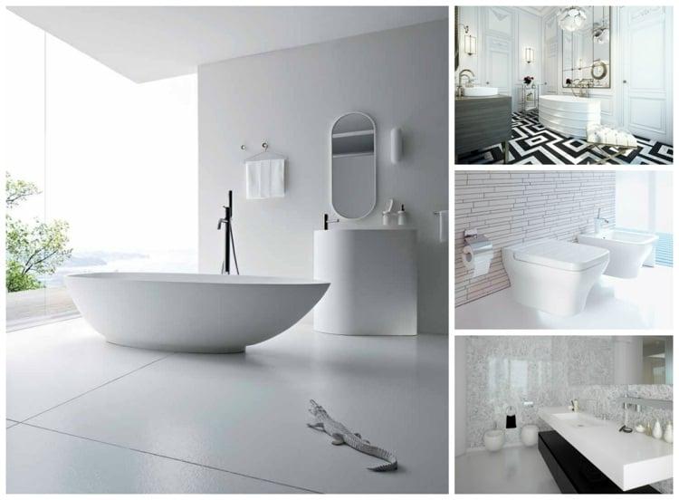 la salle de bains blanche design en 75