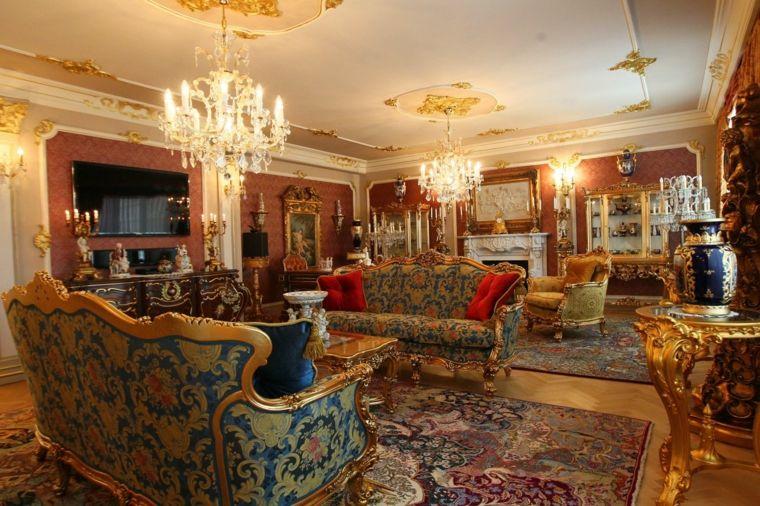 Dco Baroque Du Salon Pour Un Intrieur Luxueux