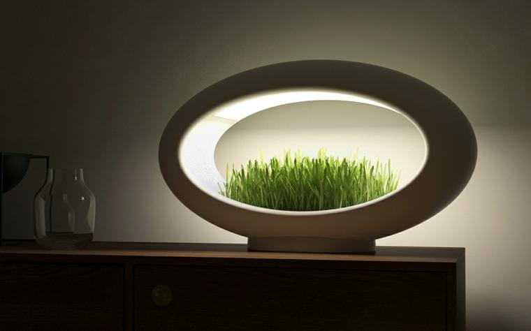 Lampe Design LED Avec Mini Jardin Intgr