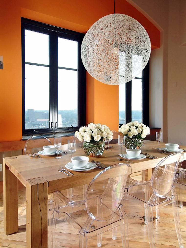 Chaises Transparentes Pour Une Salle Manger Contemporaine