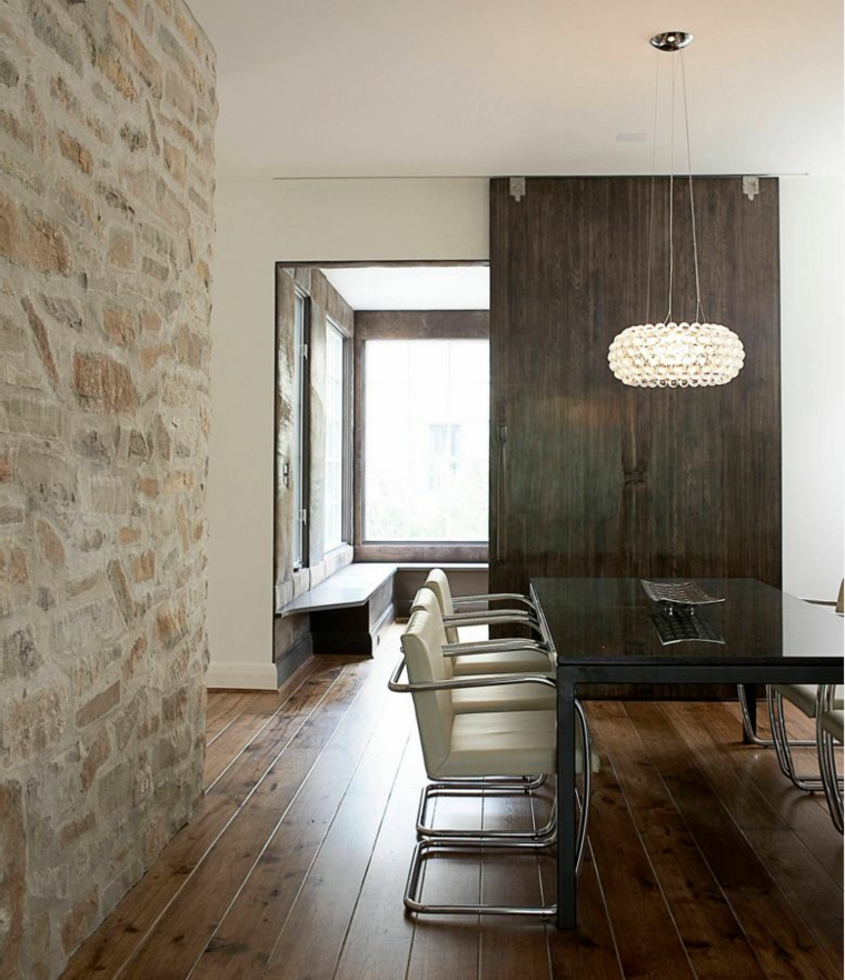 le mur de pierre interieur 25 idees
