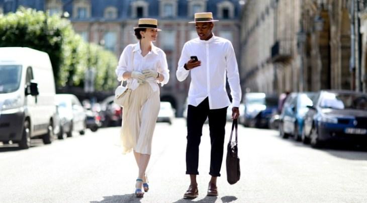 paris tendance mode chapeau chemise blanche idée