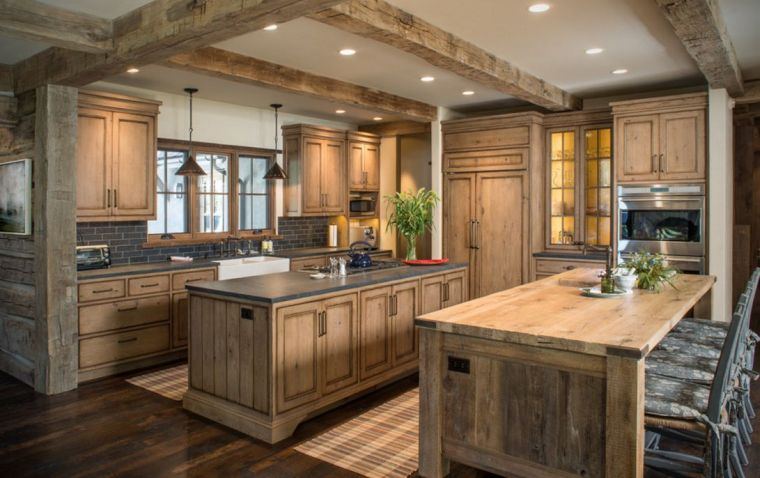 cuisine contemporaine bois en 75