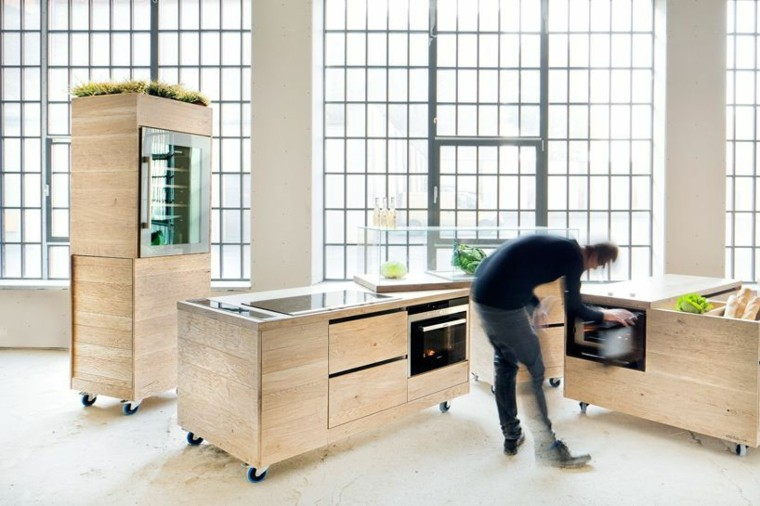 meubles contemporains a roulettes