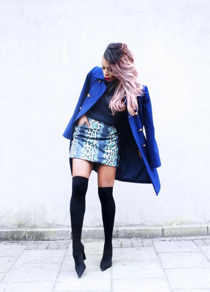 veste oasis printemps femme idée bleu jupe tendance