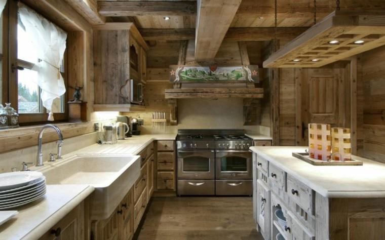 focus sur la cuisine chalet moderne