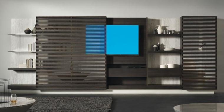 meuble cache tele de design sophistique
