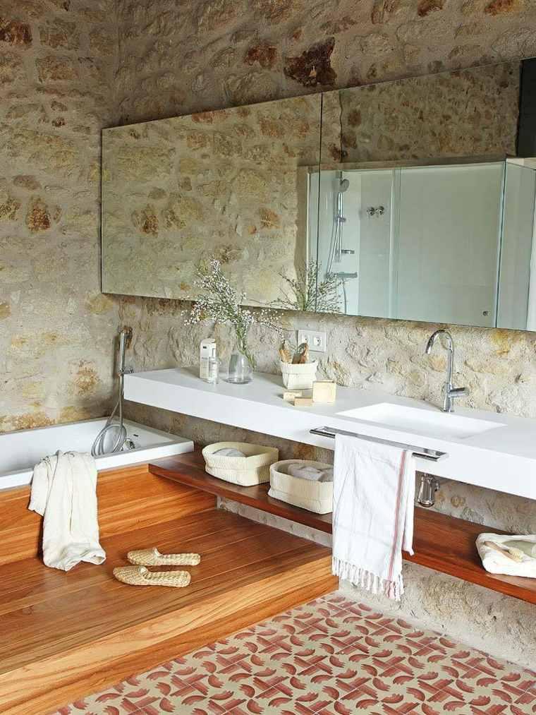 salle de bain design rustique un