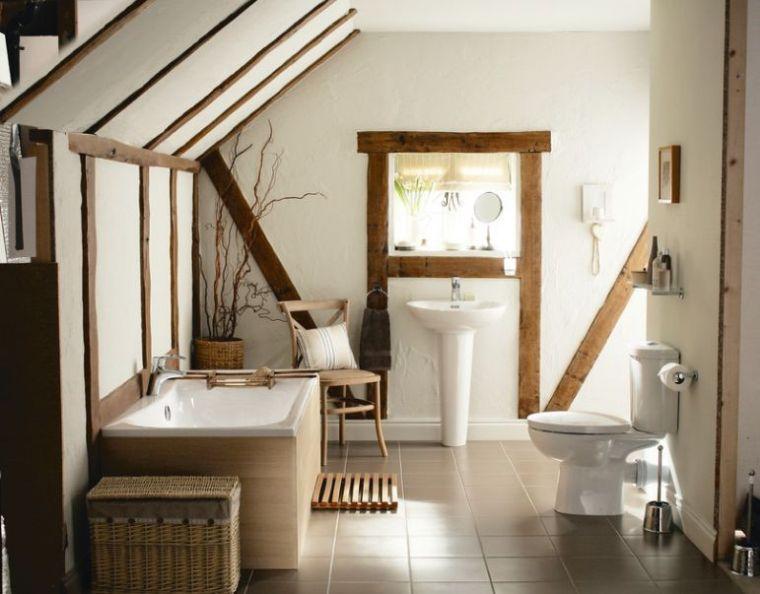 la salle de bain deco campagne d