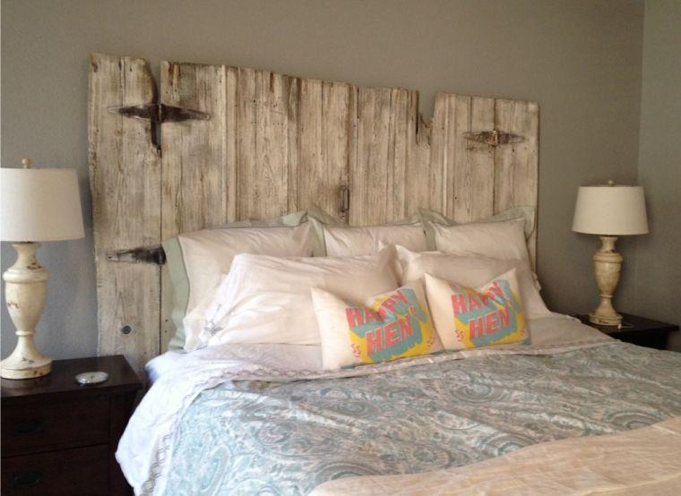 de lit bois flotte pour une chambre
