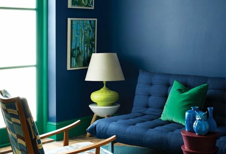 Peinture Bleu Paon Salon Kapokto