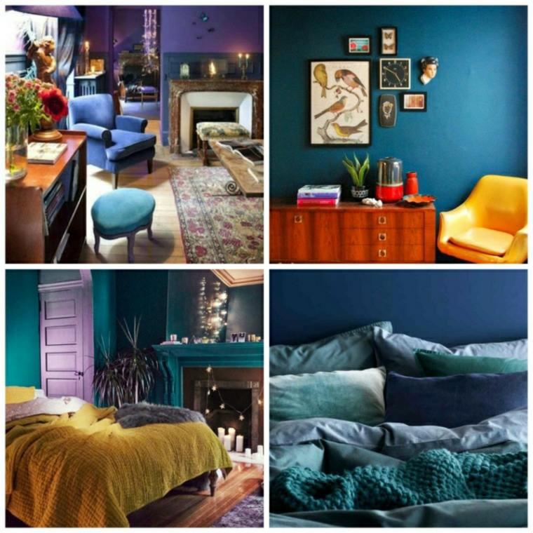 chambre bleu canard et associations ou