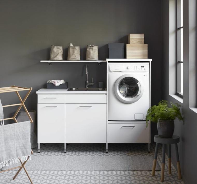 meuble machine a laver pour un coin