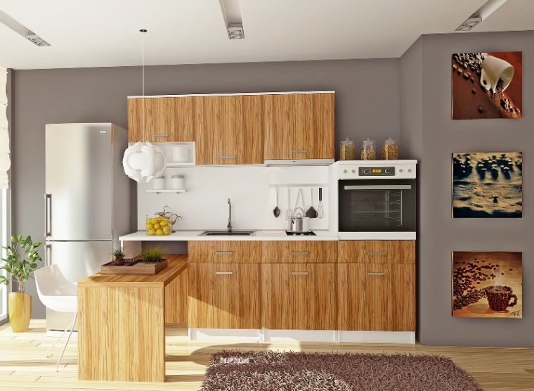la cuisine bois brut adopte un look