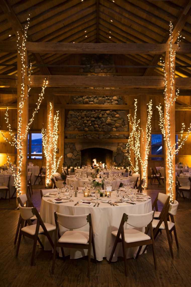 Rustic Winter Wedding Decorations