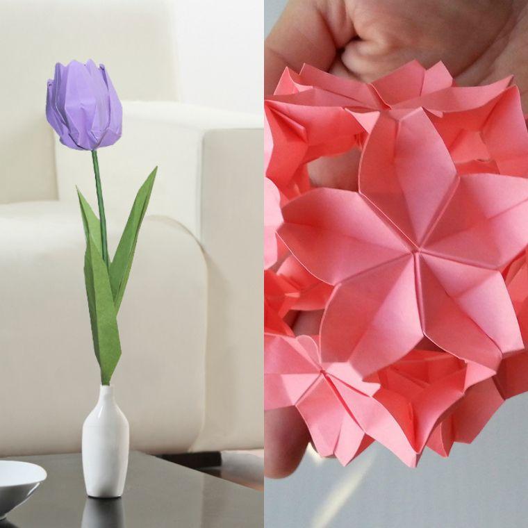 Origami Fleur Lart Japonais Se Met Au Service De La DIY