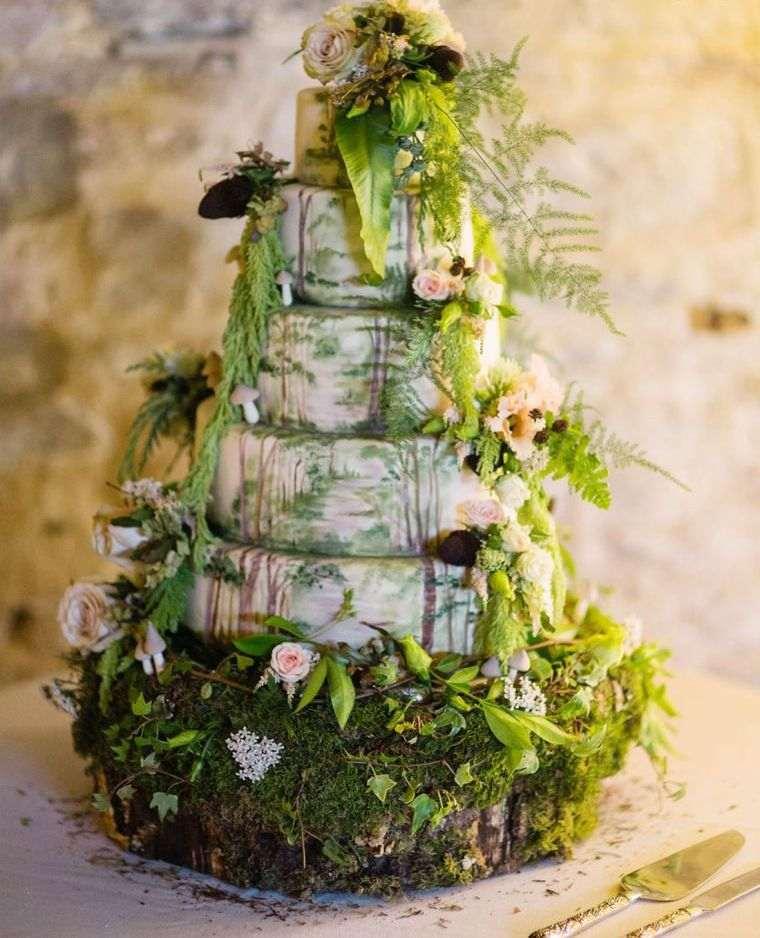 Dcoration Gteau Mariage Thme Nature 40 Ides Pour