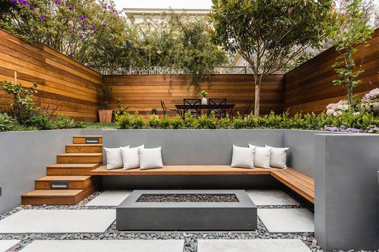 Amenagement Jardin En Pente Terrassement Deux Projets Design Par Jmj Studios