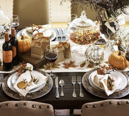 l automne apporte des idees de decoration de table