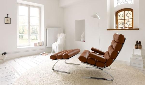 un fauteuil moderne et confortable