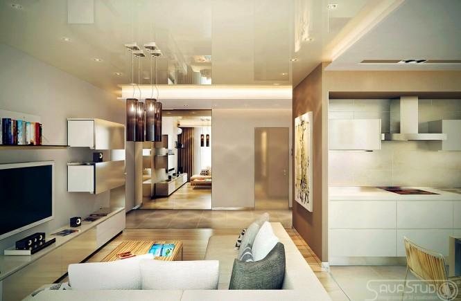 petit appartement design luxe salon