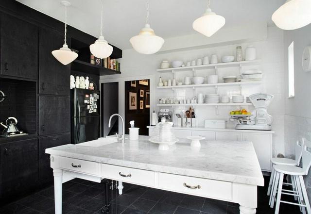 noir et blanc pour votre cuisine