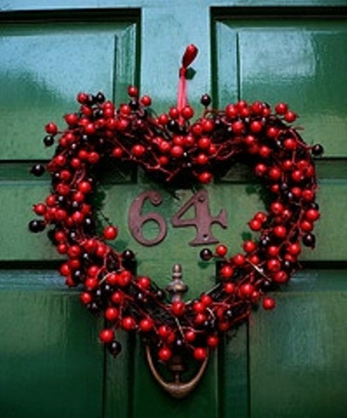 Dcoration De St Valentin Aux Fleurs Et Aux Fruits