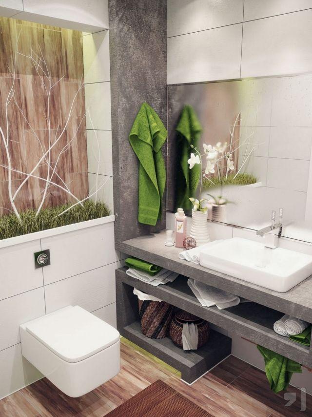 peinture-salle-bains-petite-accents-verts-miroir-grand
