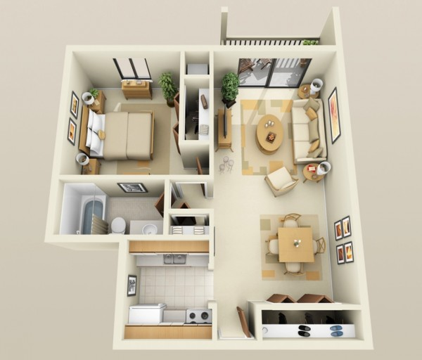 Small L Shaped Kitchen Floor Plans