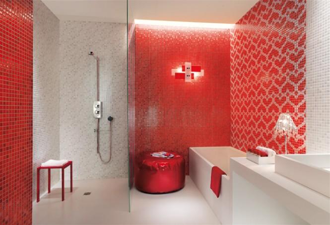 Salle De Bain En Carrelage Design Et Moderne Avec