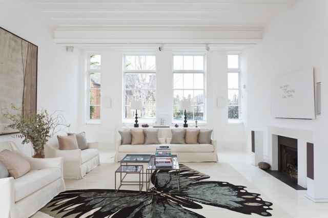 le tapis salon de la couleur sur