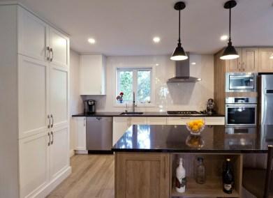 Rénovation complète Rez-de-chaussée Cuisine salle à manger et Salon Transitionnel Chambly 2