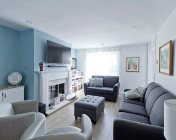 Rénovation complète Rez-de-chaussée Cuisine salle à manger et Salon Transitionnel Chambly 4