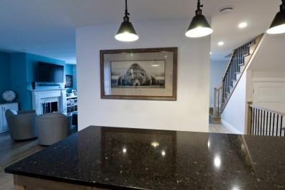 Rénovation complète Rez-de-chaussée Cuisine salle à manger et Salon Transitionnel Chambly 6