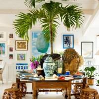 İçi dışı bir,  samimi tropikal evler