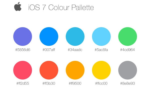 Image result for colour palette ios