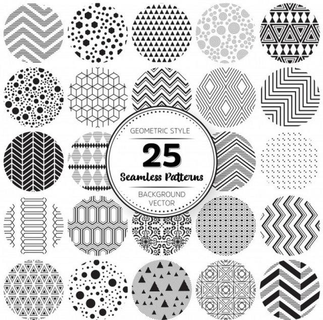 Geometric style patterns