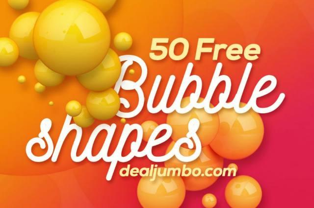 Colorful 3D Bubbles Package