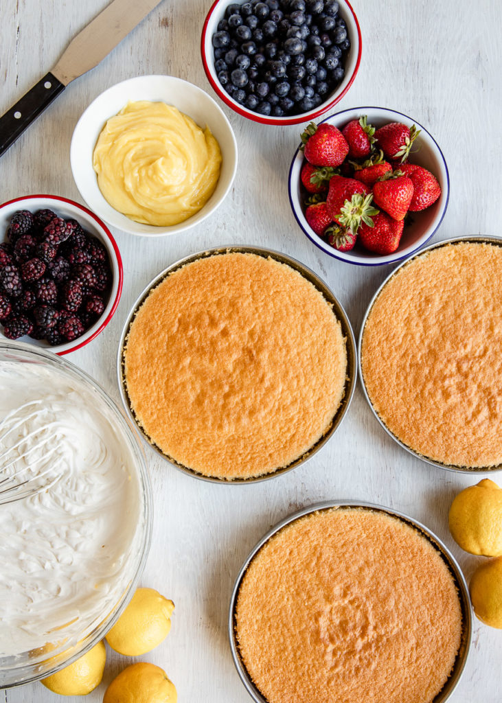 Lemon Chiffon Cake with Berries | DesignMom.com
