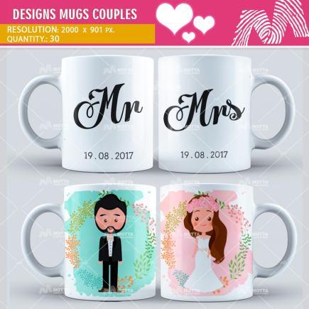 Design Sublimation Mugs Couples   Motta